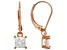 White Cubic Zirconia 18K Rose Gold Over Sterling Silver Earrings 1.53ctw