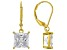 White Cubic Zirconia 18K Yellow Gold Over Sterling Silver Earrings 7.02ctw