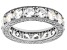 White Cubic Zirconia Rhodium Over Sterling Silver Eternity Band Ring 8.73ctw