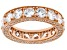 White Cubic Zirconia 18k Rose Gold Over Sterling Silver Eternity Band Ring 8.73ctw