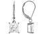 White Cubic Zirconia Rhodium Over Sterling Silver Earrings 4.24ctw