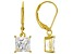 White Cubic Zirconia 18K Yellow Gold Over Sterling Silver Earrings 4.24ctw