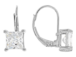 White Cubic Zirconia Rhodium Over Sterling Silver Earrings 2.79ctw