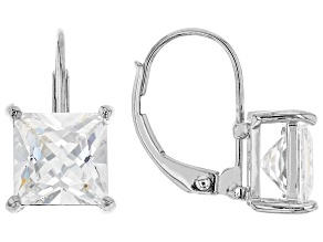 White Cubic Zirconia Rhodium Over Sterling Silver Earrings 5.40ctw