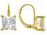 White Cubic Zirconia 18K Yellow Gold Over Sterling Silver Earrings 5.40ctw