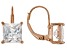 White Cubic Zirconia 18K Rose Gold Over Sterling Silver Earrings 5.40ctw