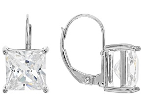 White Cubic Zirconia Rhodium Over Sterling Silver Earrings 7.47ctw