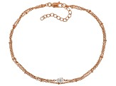 White Cubic Zirconia 18K Rose Gold Over Sterling Silver Bracelet 0.60ctw