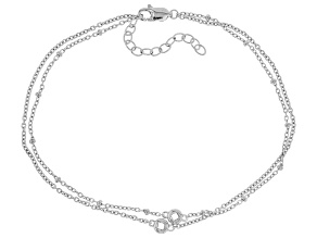 White Cubic Zirconia Rhodium Over Sterling Silver Bracelet 0.34ctw