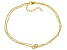 White Cubic Zirconia 18K Yellow Gold Over Sterling Silver Bracelet 0.34ctw