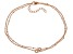 White Cubic Zirconia 18K Rose Gold Over Sterling Silver Bracelet 0.34ctw