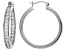 White Cubic Zirconia Rhodium Over Sterling Silver Inside Out Hoop Earrings 5.61ctw