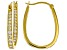 White Cubic Zirconia 18K Yellow Gold Over Sterling Silver Inside Out Hoop Earrings 2.66ctw