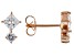 White Cubic Zirconia 18K Rose Gold Over Sterling Silver Earrings 1.35ctw