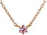 Pink Cubic Zirconia 18K Rose Gold Over Sterling Silver Necklace 0.13ctw