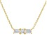 White Cubic Zirconia 18K Yellow Gold Over Sterling Silver Necklace 0.77ctw