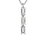 White Cubic Zirconia Rhodium Over Sterling Silver Pendant With Chain 0.79ctw