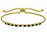 Green And White Cubic Zirconia 18K Yellow Gold Over Sterling Silver Adjustable Bracelet 1.12ctw