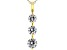 White Cubic Zirconia 18K Yellow Gold Over Sterling Silver Pendant With Chain 3.20ctw