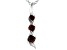 Red Cubic Zirconia Rhodium Over Sterling Silver Pendant With Chain 0.41ctw