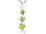 Green Cubic Zirconia Rhodium Over Sterling Silver Pendant With Chain 0.40ctw