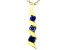 Blue Cubic Zirconia 18K Yellow Gold Over Sterling Silver Pendant With Chain 0.40ctw