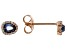 Blue And White Cubic Zirconia 18K Rose Gold Over Sterling Silver Earrings 0.55ctw