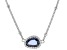 Blue And White Cubic Zirconia Rhodium Over Sterling Silver Necklace 1.48ctw