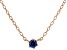 Blue Cubic Zirconia 18K Rose Gold Over Sterling Silver Necklace 0.13ctw