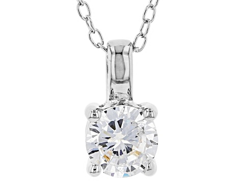 White Cubic Zirconia Rhodium Over Sterling Silver Pendant With Chain And Earrings 2.43ctw