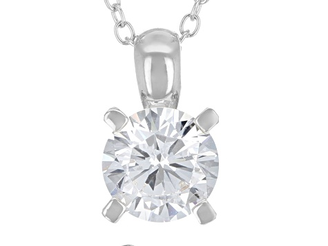 White Cubic Zirconia Rhodium Over Sterling Silver Pendant With Chain And Earrings 7.36ctw