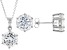 White Cubic Zirconia Rhodium Over Sterling Silver Pendant With Chain And Earrings 17.01ctw