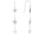 White Cubic Zirconia Rhodium Over Sterling Silver Star Dangle Earrings 3.75ctw
