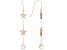 White Cubic Zirconia 18K Rose Gold Over Sterling Silver Star Dangle Earrings 3.75ctw