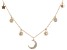 White Cubic Zirconia 18K Rose Gold Over Sterling Silver Star And Moon Necklace 0.66ctw