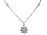 White Cubic Zirconia Rhodium Over Sterling Silver Star Pendant With Chain 0.39ctw