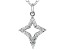 White Cubic Zirconia Rhodium Over Sterling Silver Star Pendant With Chain 0.20ctw
