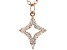 White Cubic Zirconia 18K Rose Gold Over Sterling Silver Star Pendant With Chain 0.20ctw