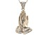 White Cubic Zirconia 18K Rose Gold Over Sterling Silver Praying Hands Pendant With Chain 0.49ctw