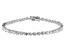 White Cubic Zirconia Rhodium Over Sterling Silver Tennis Bracelet 5.96ctw