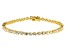 White Cubic Zirconia 18K Yellow Gold Over Sterling Silver Tennis Bracelet 5.96ctw