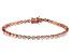 White Cubic Zirconia 18K Rose Gold Over Sterling Silver Tennis Bracelet 5.96ctw