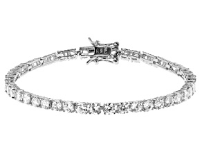White Cubic Zirconia Rhodium Over Sterling Silver Tennis Bracelet 8.25ctw