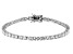 White Cubic Zirconia Rhodium Over Sterling Silver Tennis Bracelet 8.25ctw