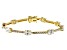 White Cubic Zirconia 18K Yellow Gold Over Sterling Silver Tennis Bracelet 11.84ctw