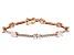White Cubic Zirconia 18K Rose Gold Over Sterling Silver Tennis Bracelet 11.84ctw