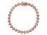 White Cubic Zirconia 18K Rose Gold Over Sterling Silver Heart Tennis Bracelet 5.26ctw