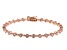 White Cubic Zirconia 18K Rose Gold Over Sterling Silver Tennis Bracelet 4.17ctw