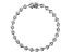 White Cubic Zirconia Rhodium Over Sterling Silver Tennis Bracelet 3.89ctw