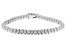 White Cubic Zirconia Rhodium Over Sterling Silver Tennis Bracelet 8.95ctw